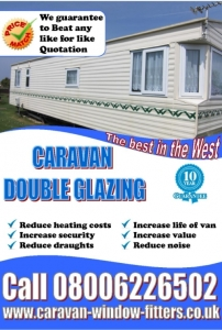 Guarantee to beat double glazing static caravan prices installation