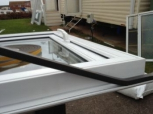 our static caravan double glazing windows are fitted with a foam gasket