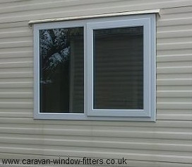 Side hung next to fixed caravan double glazed window