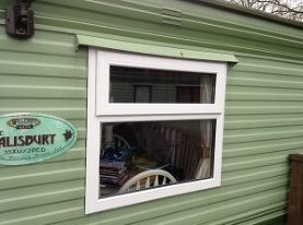 top over fixed caravan double glazed window