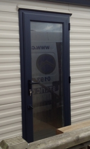 grey double glazed static caravan door