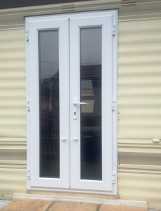 static caravan french doors