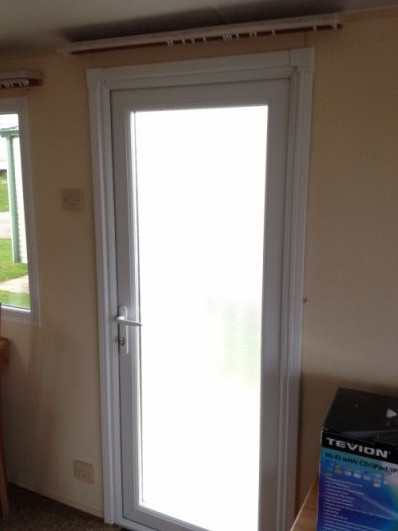 internal finish on our static caravan double glazed doors
