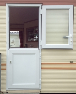 double glazed stable doors for static caravans