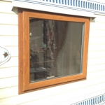 light oak window frame profile