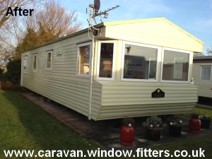 Installed-Static-Caravan-double-glazing-Trecco-bay-South-Wales