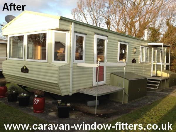Static Caravan double glazing Windows Doors South Wales