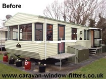 Static Caravan double glazing in Wales