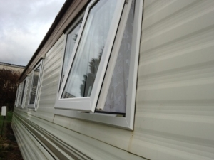 Static caravan windows replaced devonshire