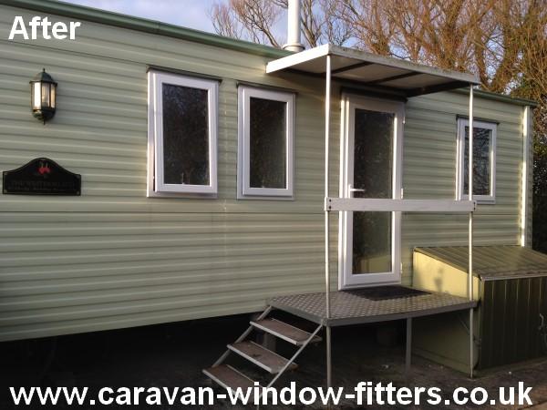 UPVC Static Caravan double glazing Trecco bay South Wales