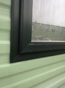 caravan double glazing in green upvc