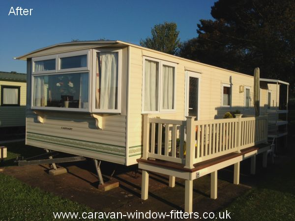 double glazing static caravan windows installed minehead somerset