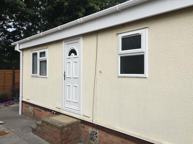 park home upvc panelled doors