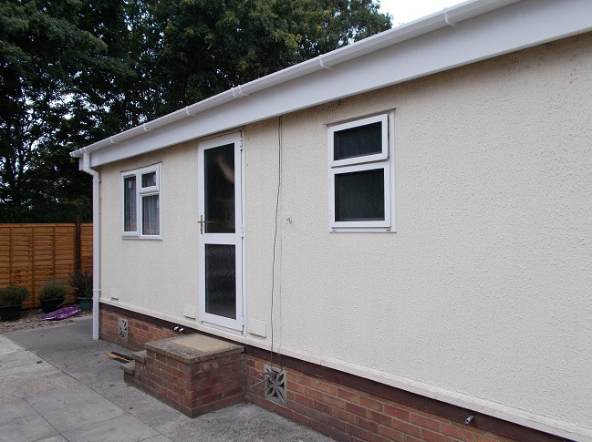 double glazed park home door installed