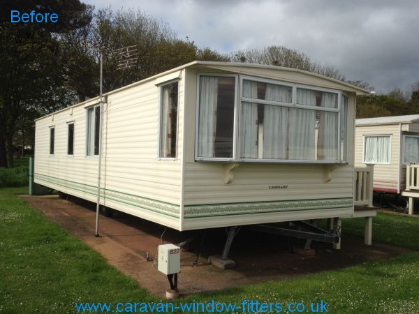 static caravan windows doors in Minehead