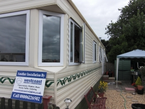 slimline static caravan double glazing Somerset