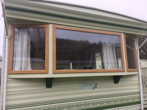 Irish Oak Static Double Glazed Caravan Windows Doors