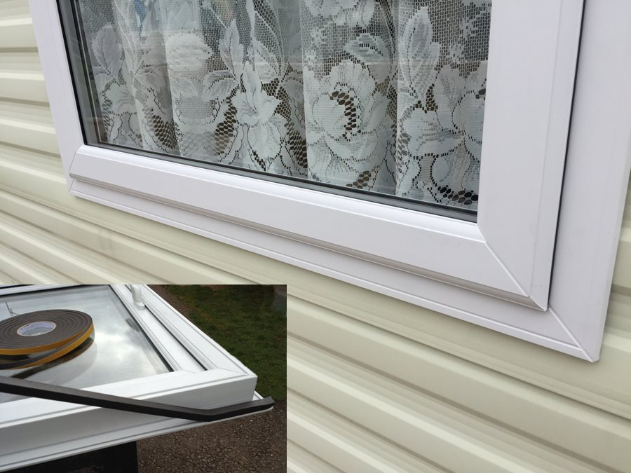 foam gasket seal on static caravan windows