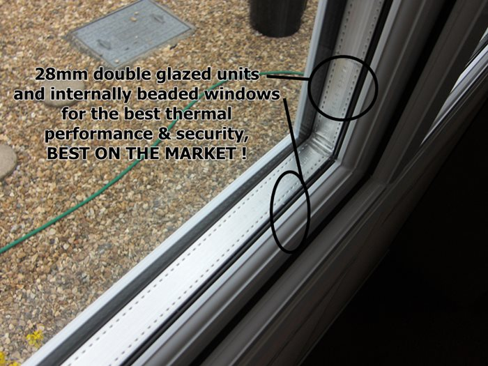 28mm double glazed