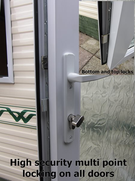 static caravan high security door locks