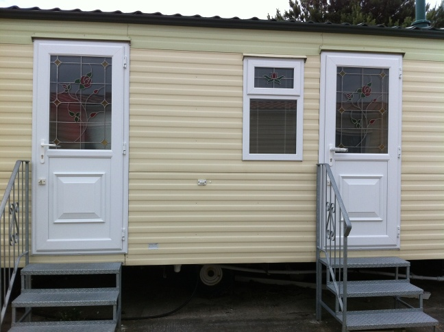 Static caravan double glazed doors in Kent