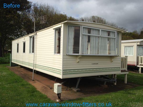 static caravan windows doors in Minehead