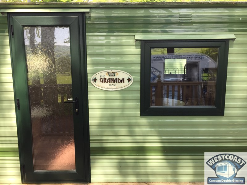 green static caravan double glazing in Aberystwyth and Ceredigion