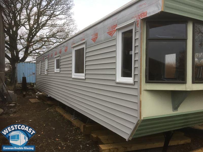 static caravan cladding installation