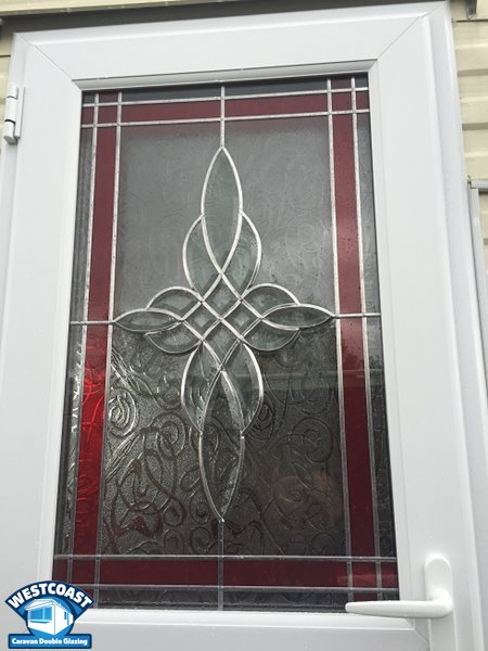 full length glass static caravan door