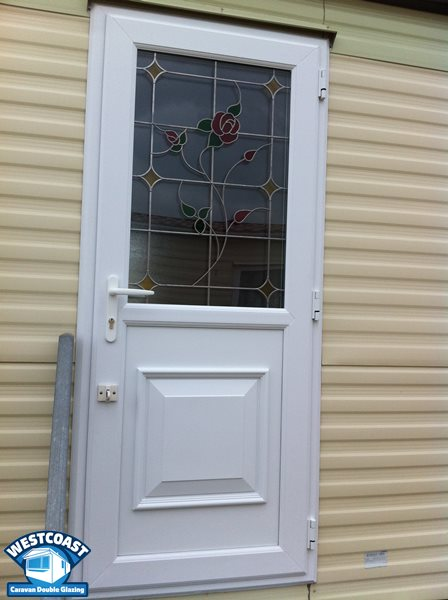 static caravan double glazing doors