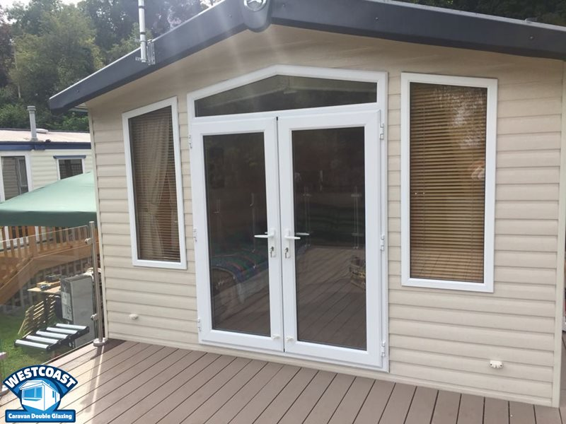 static caravan double glazed doors