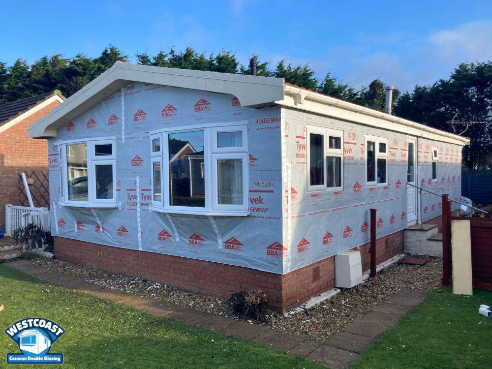 Park home cladding installation