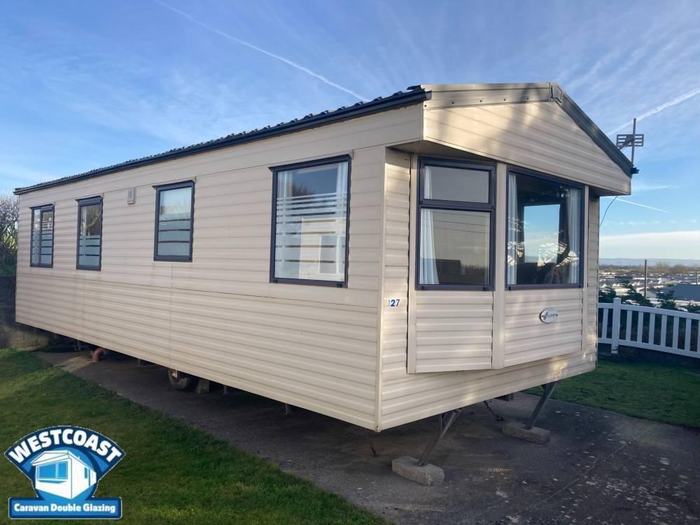 slimline static caravan double glazing installers in Somerset