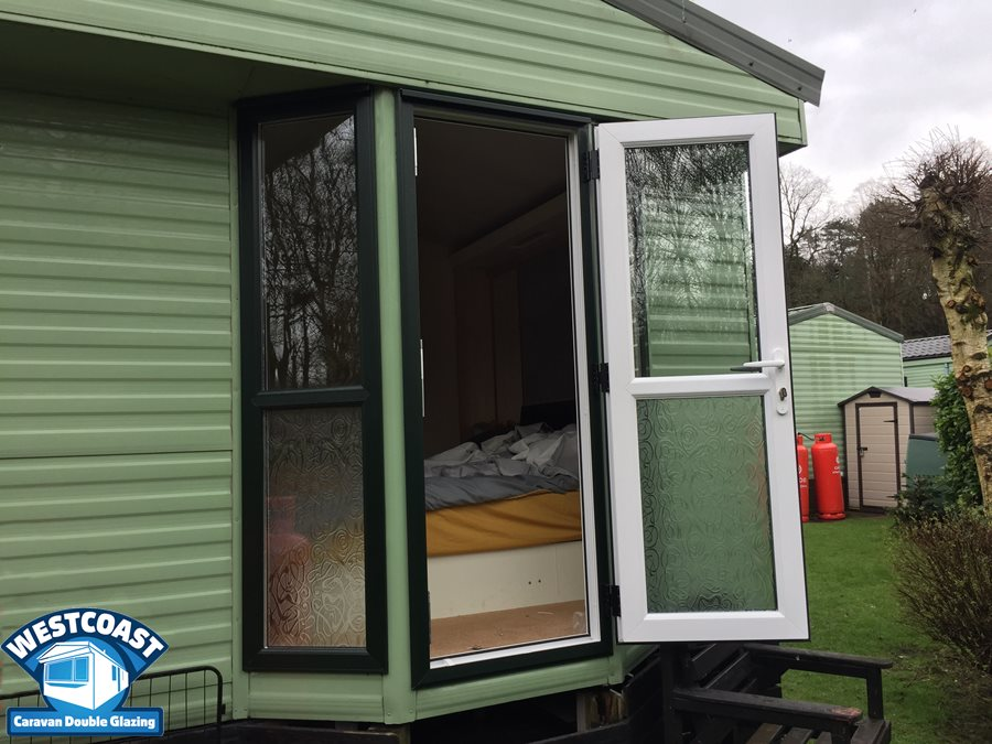 Static caravan double glazing south Wales
